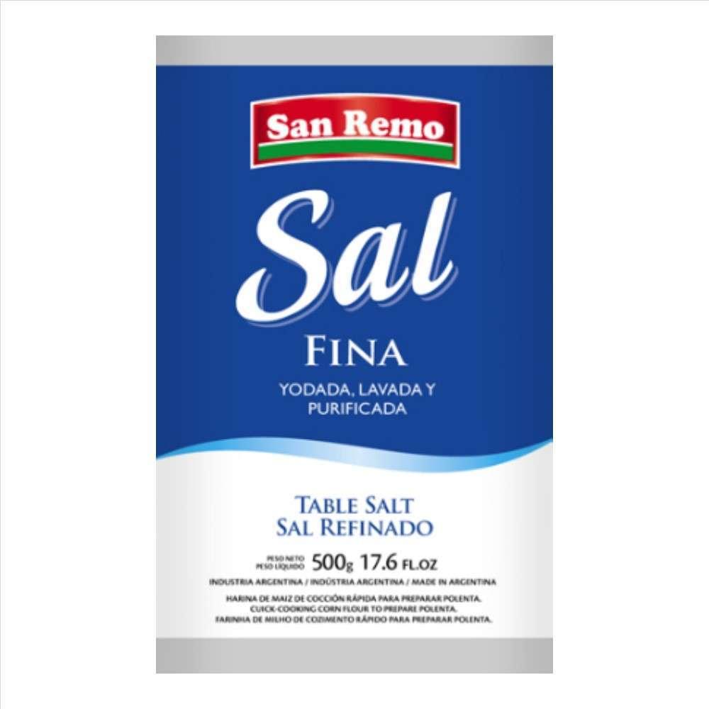 Sal San Remo Fina 500G