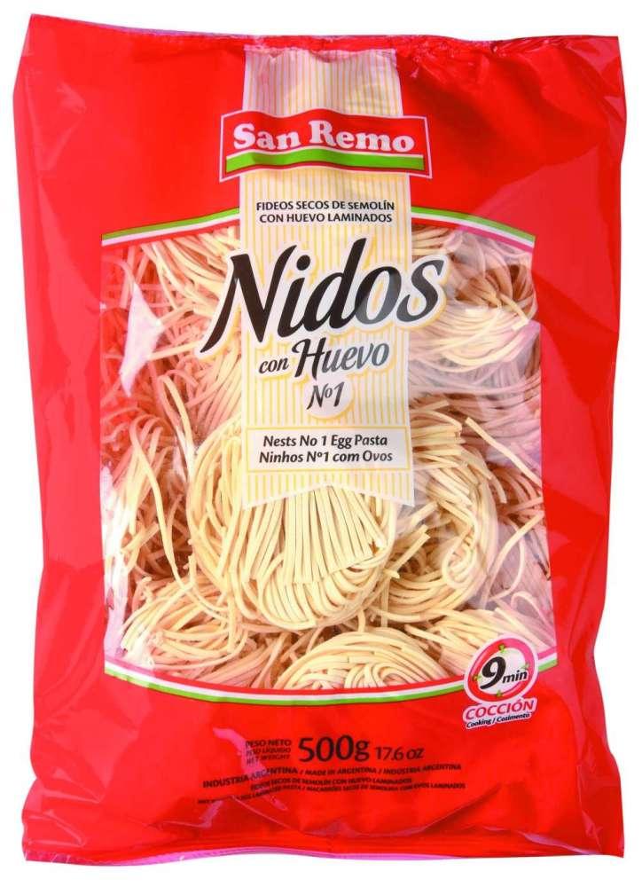 Fideos San Remo Huevo Nid.N1 500G