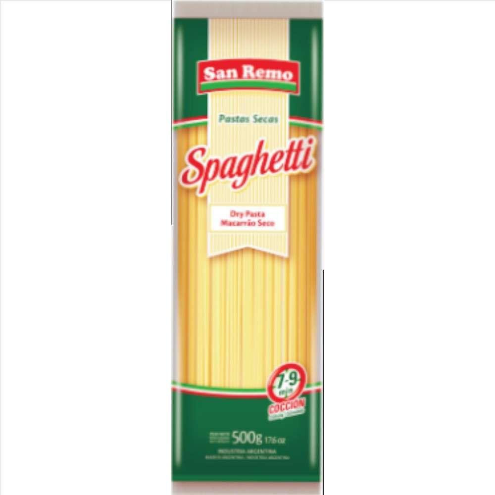 Fideos San Remo Sem.Spaghetti.500G Image