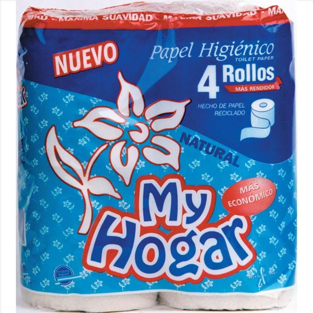 Papel Higiénico My Hogar Natural 4Rolx30M