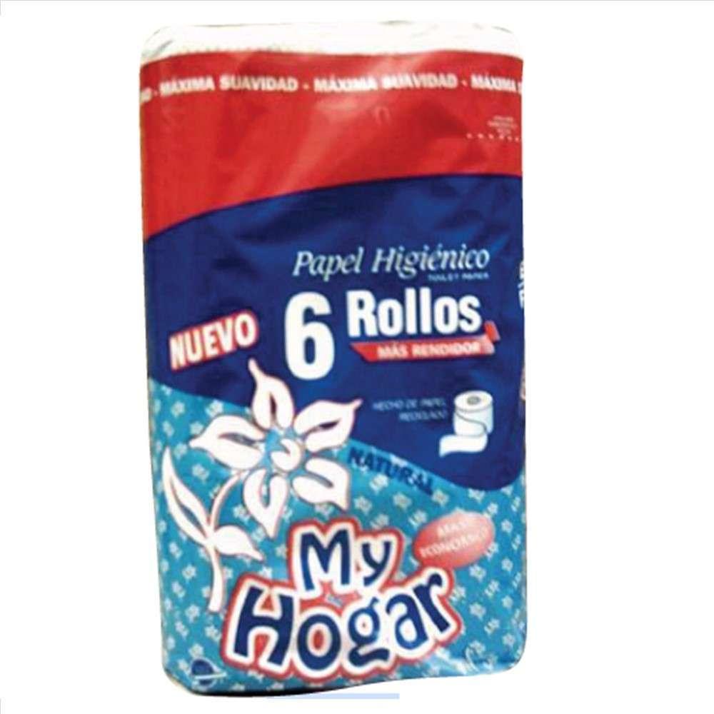 Papel Higiénico My Hogar Natural 6Rolx30M