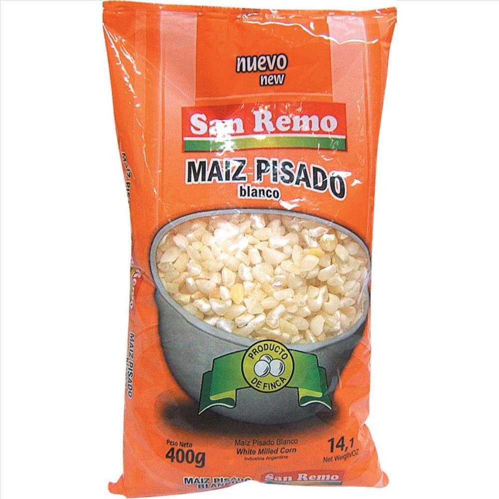 Maiz Pisado San Remo Bco 400G