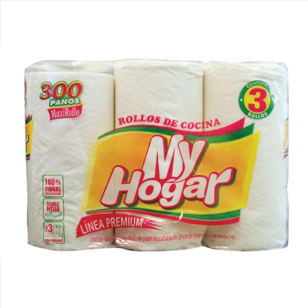 Rollo de Cocina My Hogar Blanco 3Rolx100 Paños (Pc)
