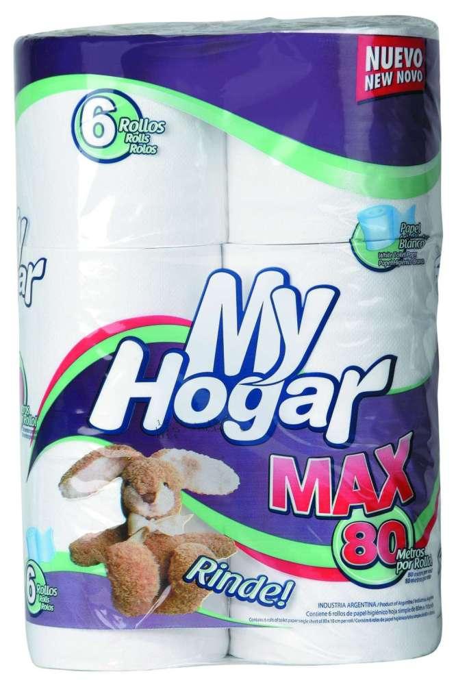 Papel Higiénico My Hogar Max 6Rolx80M