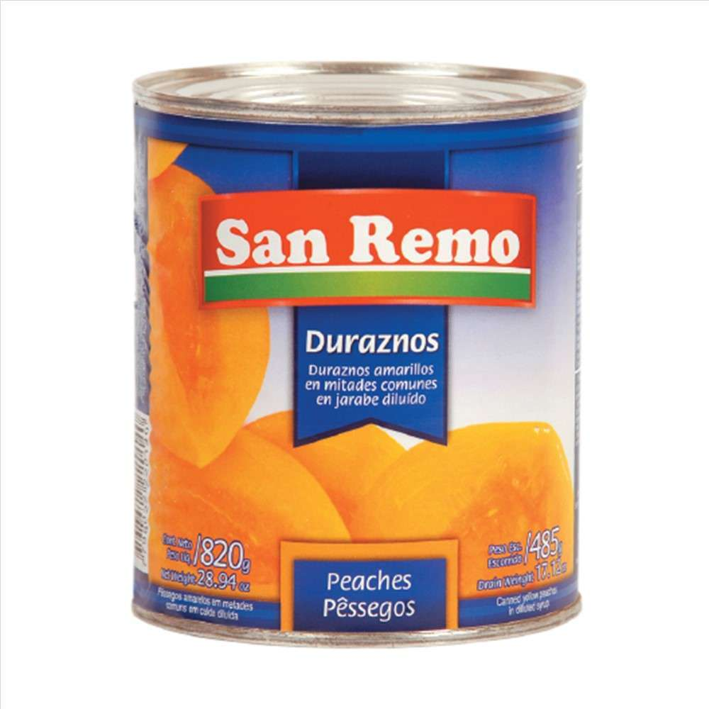 Durazno San Remo Mitades 820G