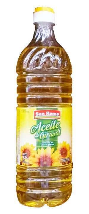 Aceite San Remo Girasol 900Cc