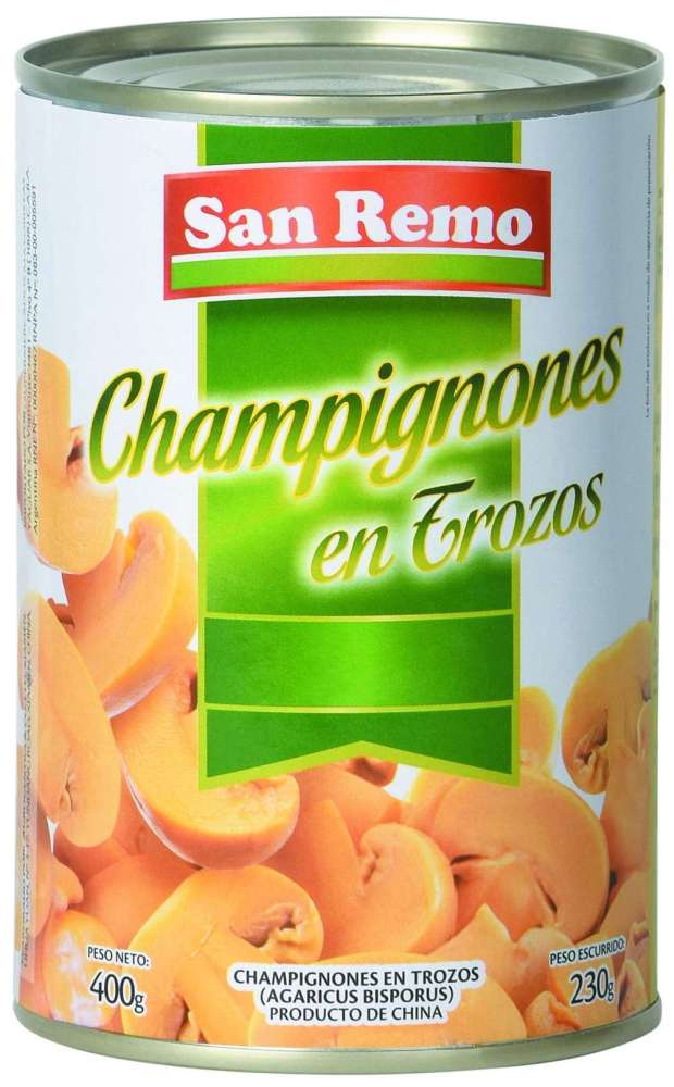 Champiñón San Remo Trozos 400G