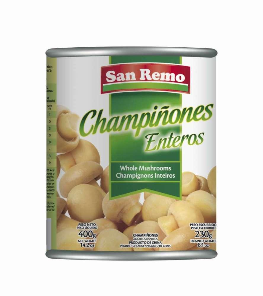 Champiñón San Remo Enteros 400G
