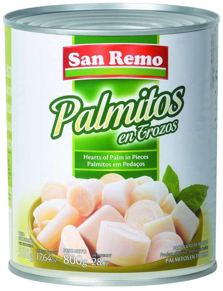 Palmitos San Remo Troz.800G