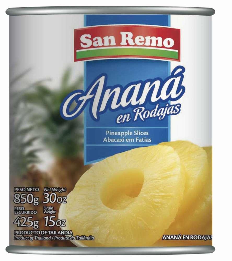 Ananá San Remo Rodajas 850G