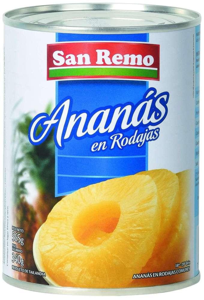 Ananá San Remo Rodajas 565G