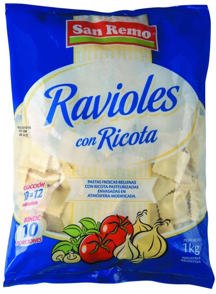 Ravioles San Remo Ricota 1Kg