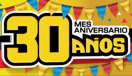 ¡Estamos de cumpleaños! Mes aniversario de 30 años.