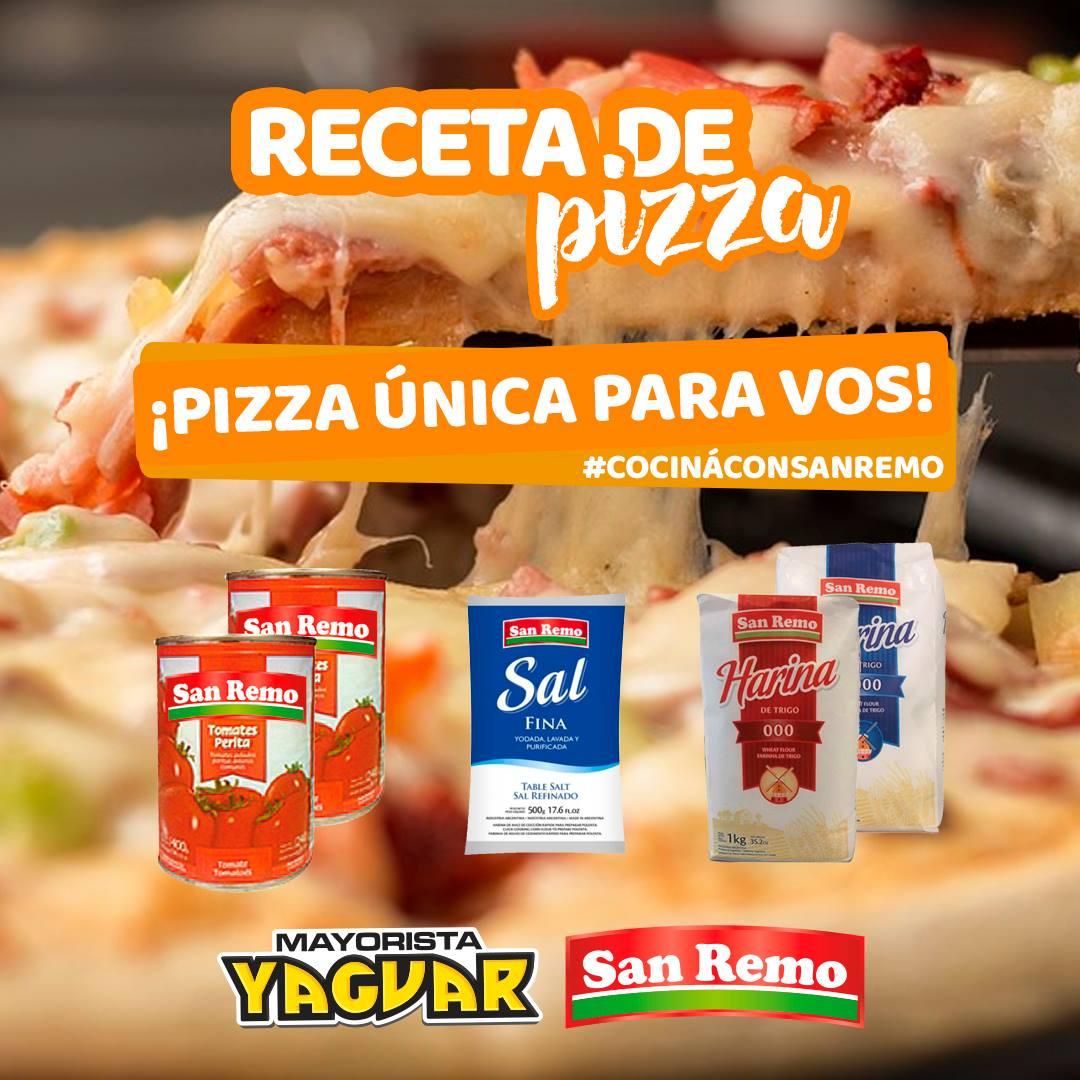 Receta Pizza Casera 🍕